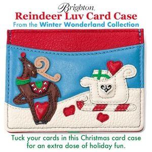 Brighton Reindeer Luv Card Case